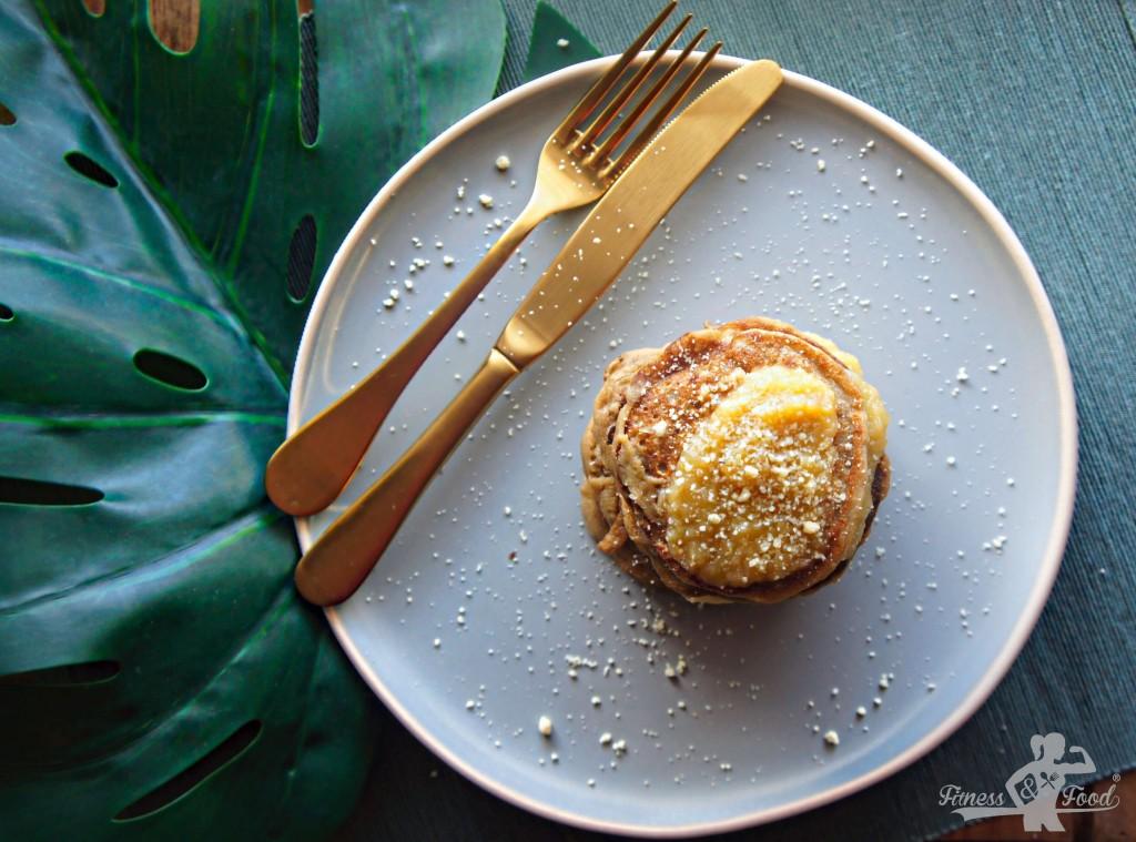 Glutenfreie Apfelmus Pancakes